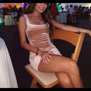 light pink tight dress